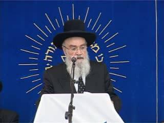העצרת החגיגית של יום ירושלים בישיבת מרכז הרב - הרב יוסף גליקסברג