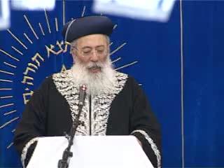 העצרת החגיגית של יום ירושלים בישיבת מרכז הרב - הראשלצ הרב שלמה עמאר