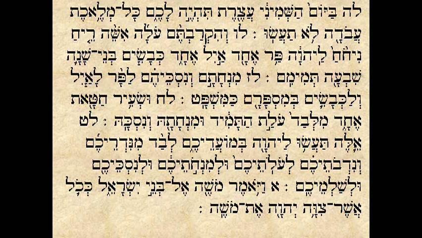 """הפטרת פרשת פנחס - """"ויד ה  היתה אל אליהו"""""""